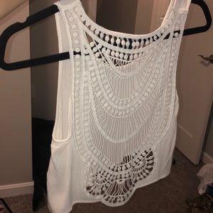 Crochet back crop top